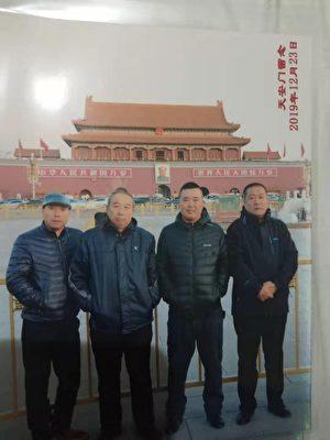 哈爾濱市農民工在北京維權討薪。(受訪者提供)