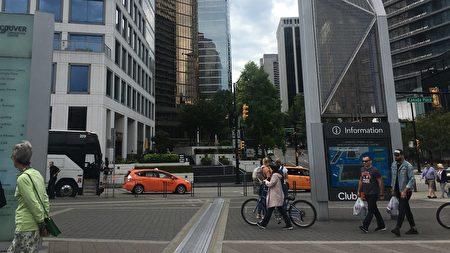 溫哥華市中心街景