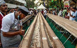 印度出炉世界最长蛋糕 6.5公里破金氏纪录