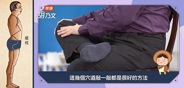 拍打胆经帮助肝胆平衡,就不容易过度生气了。(大纪元制图)