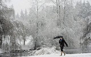 天氣預報警告說,隨著對大溫地區未來天氣的緊密監測,發現越來越多的降雪天氣正在到來。(加通社)