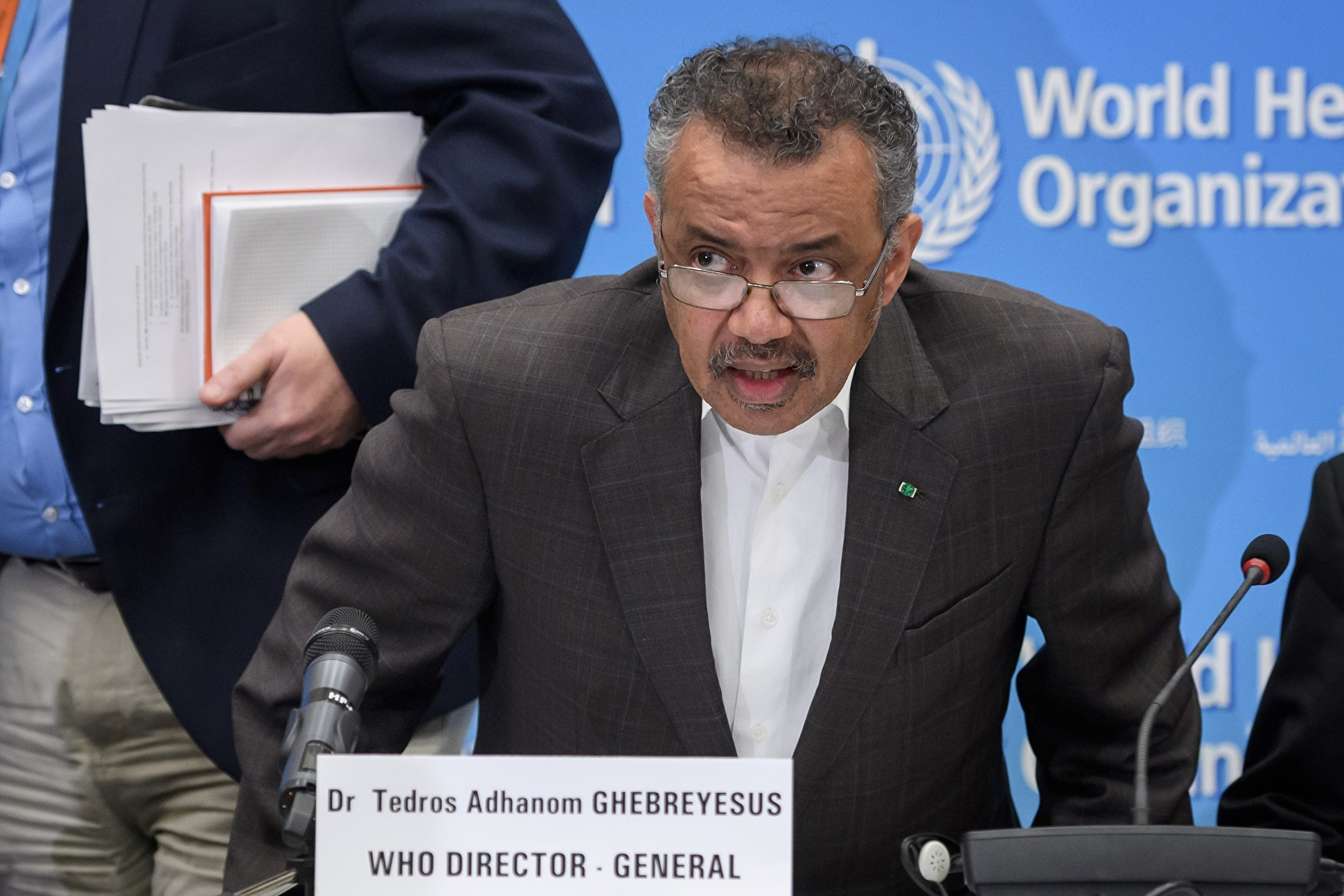 圖為世界衛生組織(WHO)秘書長譚德塞(Tedros Adhanom Ghebreyesus)。(攝於2020年1月30日)(FABRICE COFFRINI / AFP)