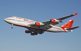 忧武汉肺炎疫情 印度航空中港航班停航至6月