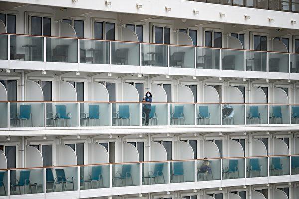 鑽石公主號是個封閉空間,中共病毒的病人與日俱增。(PHILIP FONG/AFP via Getty Images)