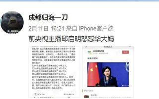 傳前央視主播邱啟明怒懟外交部華春瑩