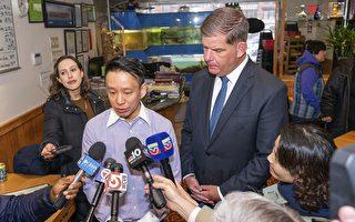 波士顿市长亲临用餐 止华埠肺炎谣言