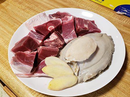 梁厨美食,鲍鱼,羊肉,姜片