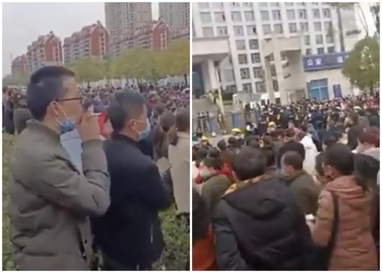 非常時期 江西上千民眾聚集市政府討血汗錢