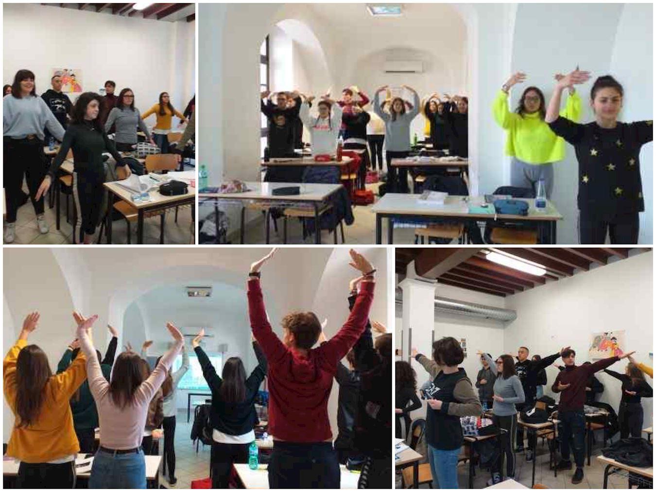法輪功走進意大利南部高中課堂 學生歡迎
