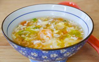 【美食天堂】蝦仁蔬菜蛋花湯食譜~簡單美味讚不絕口!