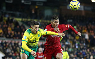 英超第26轮,利物浦在客场1:0小胜诺维奇