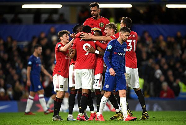 英超第26輪,曼聯在客場2:0戰勝切爾西