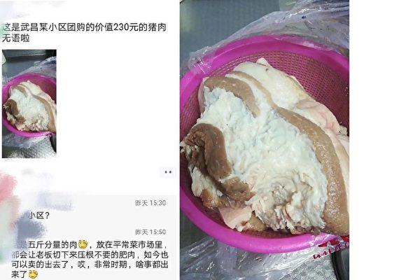 武漢人被迫團購過活 230元買全肥生蟲豬肉