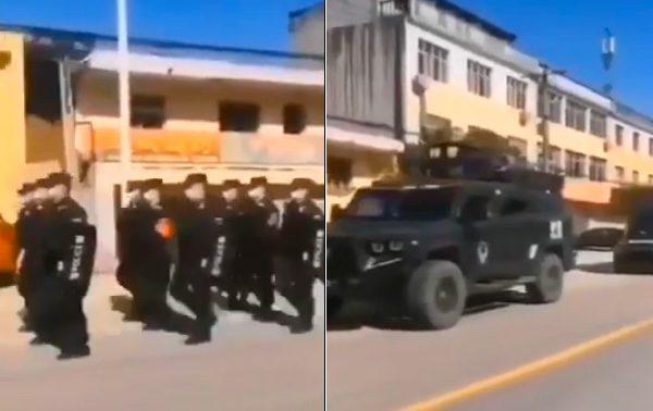 视频:军人喊口号巡逻 湖北籍专用厕所出现