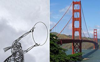 悬在半空中的插画?铁线和景观结合的幽默作品