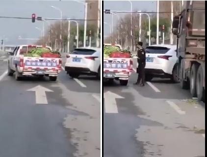 視頻:武漢城管攔車搶走四川運來的救災蔬菜