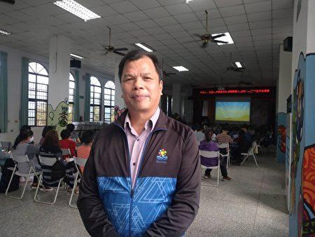 光復國小林萬男校長談到透過這次的五個學校的策略聯盟教師研習,能讓老師們對漢字有更進一步的認識。