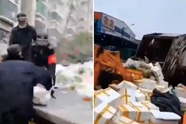 視頻:城管搶業主買下的菜 愛心蔬菜被當垃圾