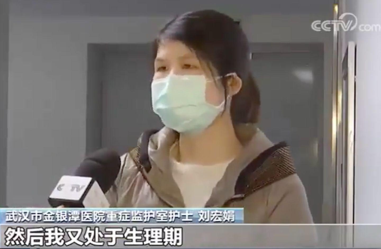 女護士受訪提「生理期」 央視刪鏡頭遭轟