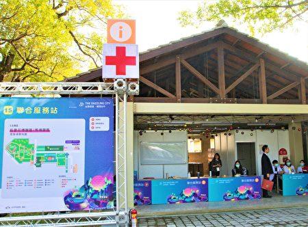 因应2月8日后里园区的赏灯人潮,医护人员已进驻待命,园区内也备有洗手乳、干洗手液等防疫物资。