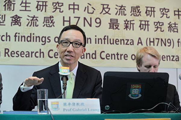 香港大學李嘉誠醫學院院長梁卓偉表示,中共肺炎比SARS「狡猾得多」,疫情未必能在今年夏天受到控制。(大紀元)