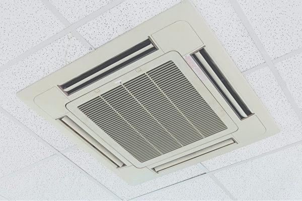 中共病毒雖然暫未明確證實能通過空氣傳染,但同樣會因中央冷氣機而使傳播範圍擴散。(Shutterstock)