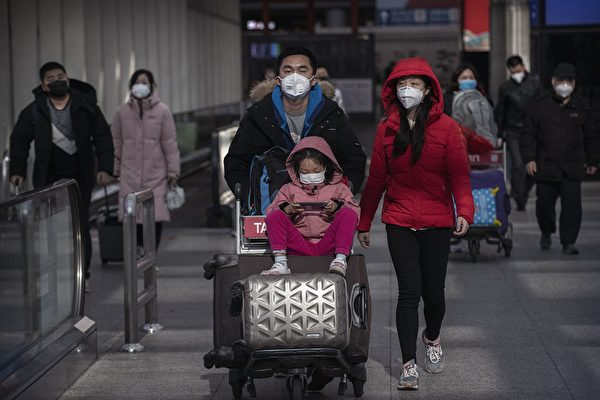 中共肺炎在中國大陸各個地區引發擔憂。日媒記者2020年2月8日發文,講述她回青島過年的經歷。圖為示意圖。(Kevin Frayer/Getty Images)