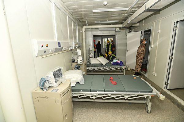 Interior of Huoshenshan Hospital