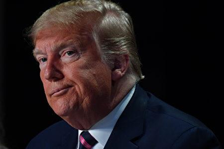 美國總統特朗普2020年2月6日在全國祈禱早餐會(National Prayer Breakfast)上發表講話。(NICHOLAS KAMM/AFP via Getty Images)