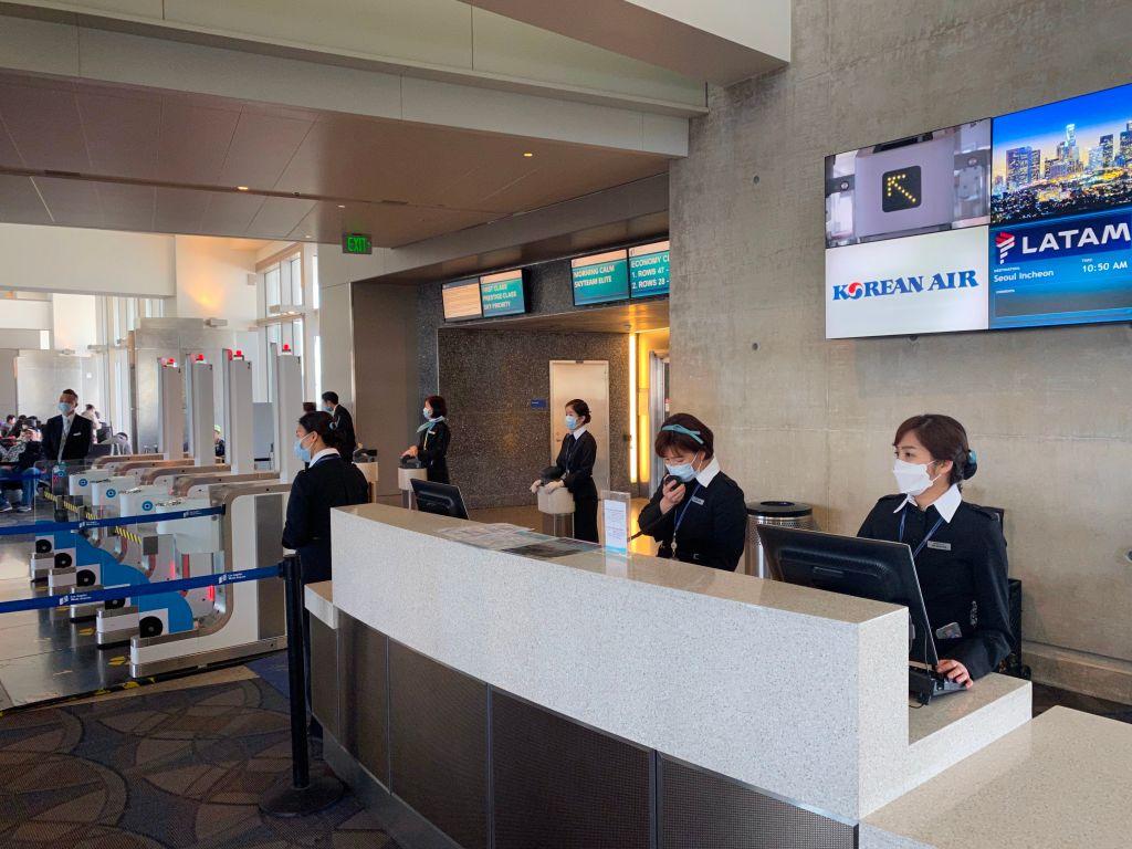 大韓航空空姐感染中共病毒 曾出入LAX