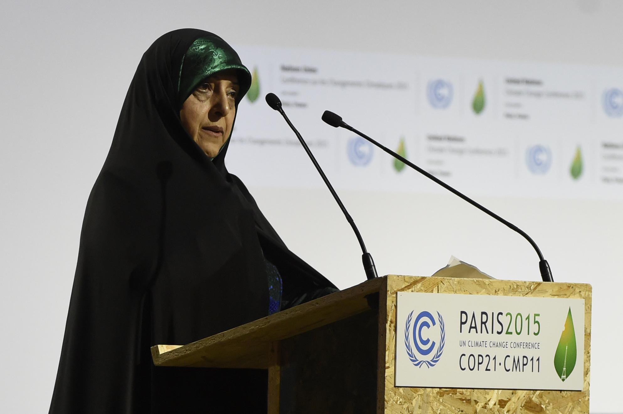 圖為伊朗副總統馬蘇梅·埃布特卡(Masoumeh Ebtekar),2月27日傳出消息:她被確診感染中共肺炎。(ALAIN JOCARD / AFP)