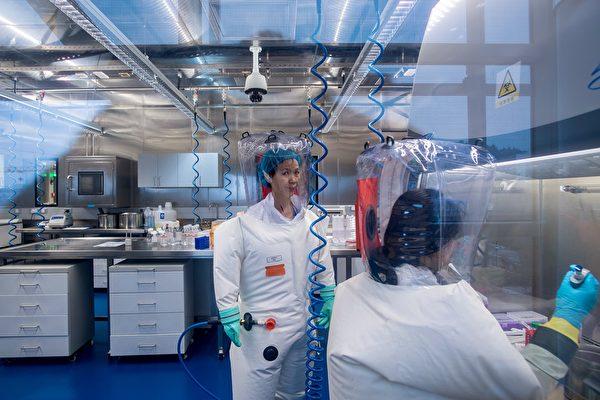 海內外專家質疑參與中共生物武器研發的中科院武漢病毒研究所人工製造武漢肺炎新型冠狀病毒。圖為武漢P4實驗室。(JOHANNES EISELE/AFP via Getty Images)