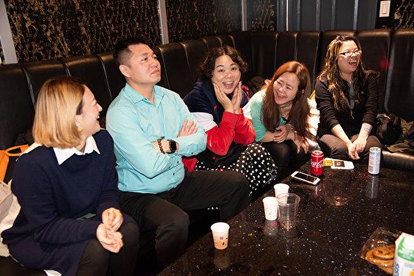 图:温哥华美食俱乐部元宵节举办了一场聚餐,让粉丝们开心满足,尽兴而归。(童宇/大纪元)
