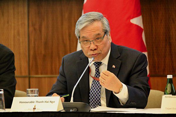 參議員吳藍海(Thanh Hai Ngo)表示:「對流氓和犯罪行為採取零容忍政策是合乎程序的。」(任僑生/大紀元)
