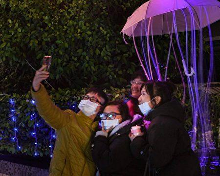 台东市公所前的元宵打卡新亮点。