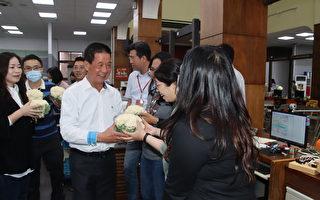 另类情人节花束 台东市长送花椰菜给员工