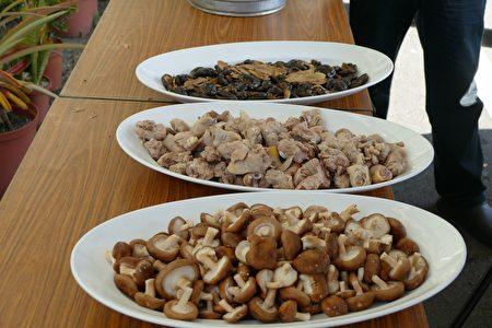 香菇雞湯品嘗會使用的在地食材香菇和國產雞肉。