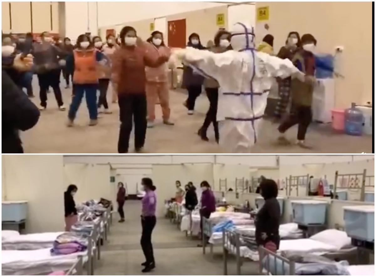 方艙醫院怪象 廣場舞、唱紅到臨時黨支部