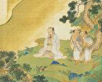 神农即炎帝,他不仅为政是帝王之圣贤,开创了农业、饮食学问,中医和中药也是他所奠基。图为神农氏像,出自明仇英《帝王道统万年图》(公有领域)