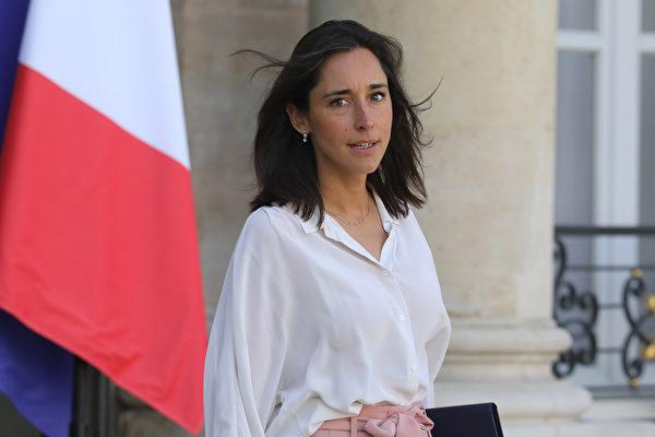 法國生態轉型和團結部國務秘書普瓦爾松(Brune Poirson)的新冠狀病毒檢測呈陽性。(Photo by LUDOVIC MARIN / AFP)