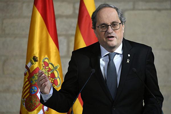 西班牙加泰罗尼亚大区主席确诊中共肺炎