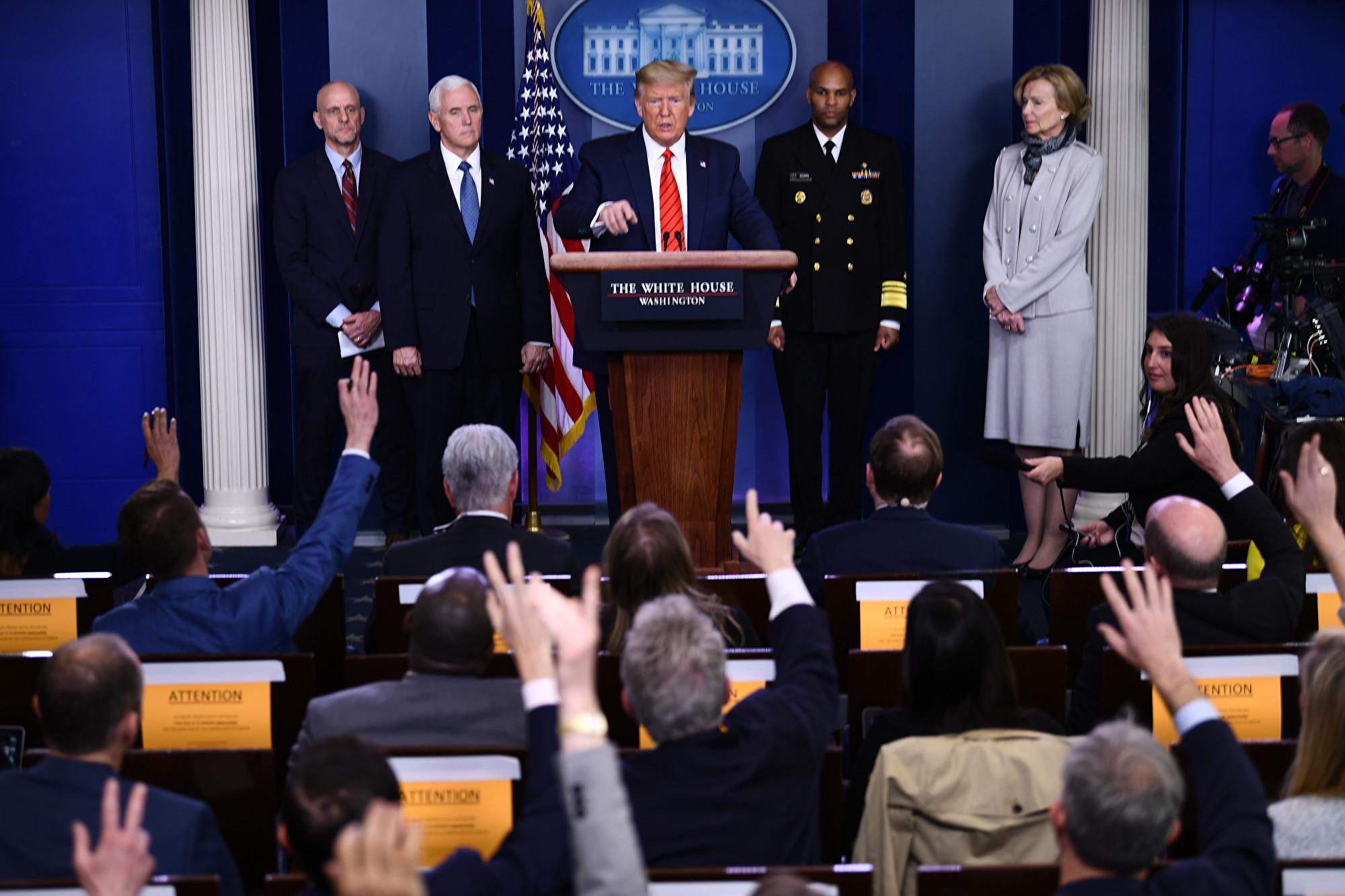 特朗普批評中共隱瞞中共病毒疫情 讓世界付出巨大代價