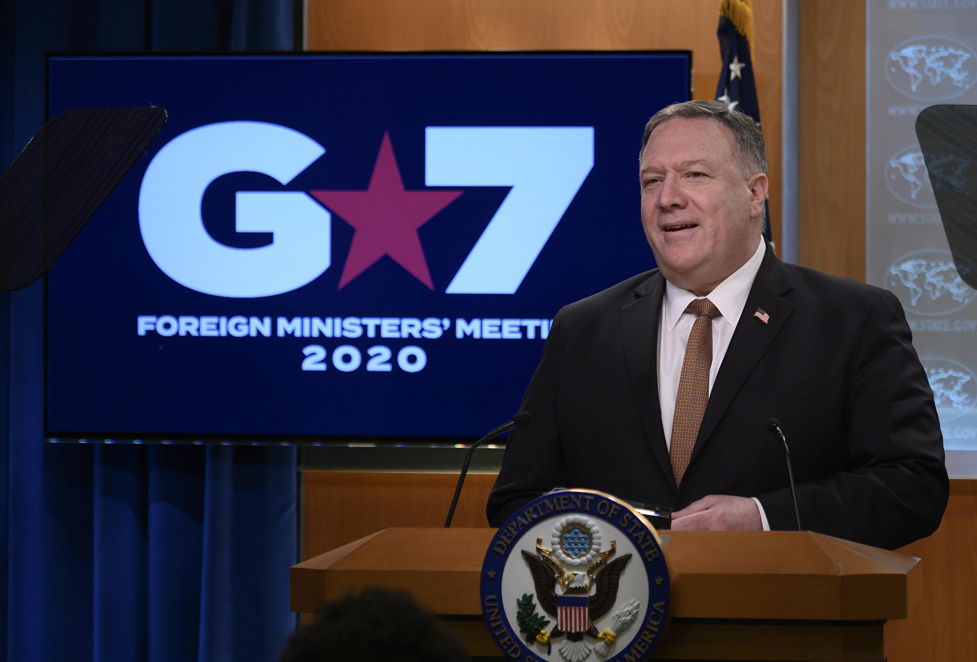 蓬佩奧:G7國家都深知中共在虛假宣傳