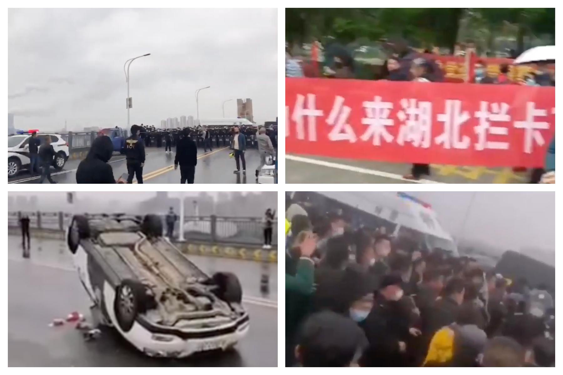 江西警察禁湖北人入境 爆大規模群體衝突