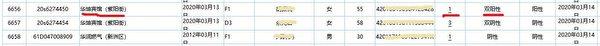圖為武漢市核酸檢測日報截圖。數據顯示,華坤賓館(紫陽街)的一市民,進行了首次核酸檢測,並被驗出陽性(新增確診)。(大紀元)