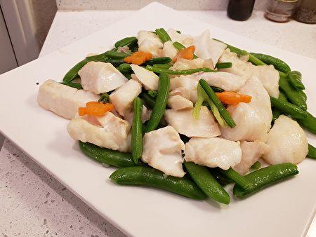 梁廚美食,甜豆,馬蹄,石斑魚肉