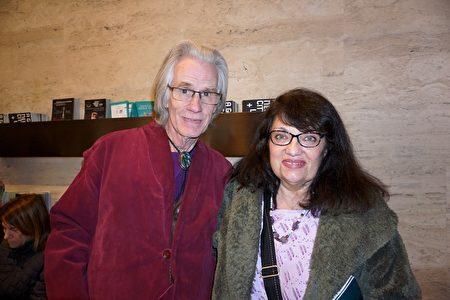 2020年3月11日下午,前音樂劇演員Bill Olsen與太太Maureen Olsen首度在林肯中心大衛寇克劇院觀賞了神韻藝術團的演出。(林南宇/大紀元)