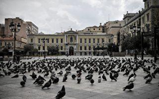 组图:希腊全国封城 防堵疫情