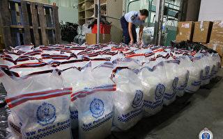 澳洲边境执法截获约400公斤冰毒 调查继续