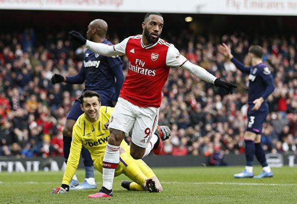 英超第28轮 阿森纳在主场1:0小胜西汉姆